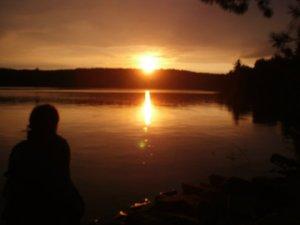 The Sunset on Kushog Lake