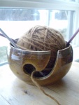 A yarn bowl from my honey