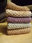 simple seed stitch dishcloths