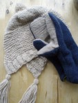 Capucine Hat and Recycled Sweater Mitts