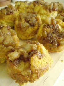 pear upside down muffins