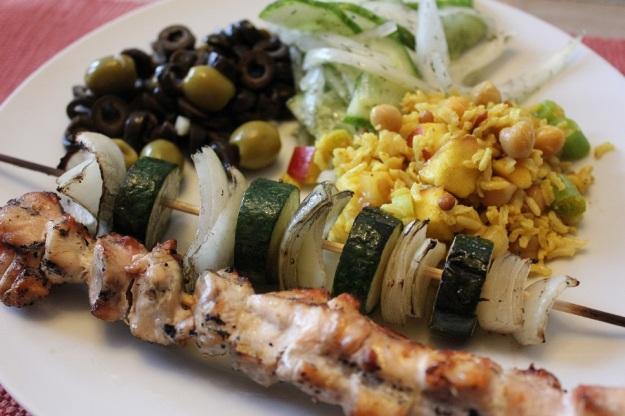 curried rice apple chickpea salad